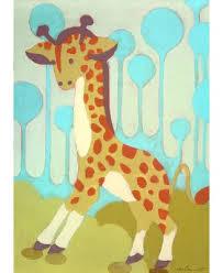 oopsy daisy gigi giraffe canvas art