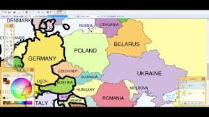 europe drawing 1 blank map you