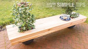 living furniture diy planter bench