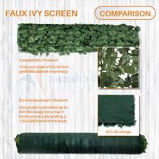 Sunshades Depot 6 Ft X 12 Ft Artificial Faux Ivy Privacy Fence Screen Leaf Vine Decoration Panel With 130 Gsm Mesh Back Walmart Com Walmart Com
