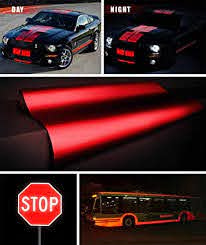 Amazon Com Vvivid Reflective Gloss Red Vinyl Car Wrap Film Diy Roll Easy To Install No Mess Decal 1 2ft X 48 Inch Automotive
