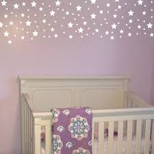 Silver White Stars Vinyl Wall Decals Confetti Decals Star Stickers Set Of 120 Geometric Wall Pattern Silver Grey Gold Diy Cosmic Starburst Gr3002