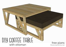 coffee table with nesting ottoman