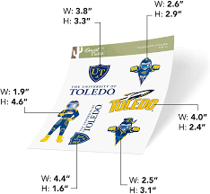 Amazon Com University Of Toledo Ut Rockets Ncaa Sticker Vinyl Decal Laptop Water Bottle Car Scrapbook Type 2 Sheet Arts Crafts Sewing