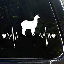 Amazon Com Donl9bauer Alpaca Car Decals Lifeline Heartbeat Bumper Car Stickers Vinyl Decal Sticker For Cars Windows Trucks Bumpers Laptops Sports Outdoors
