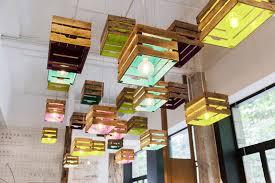 lighting design idea wood crates
