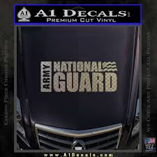 National Guard Decal Sticker Wide A1 Decals
