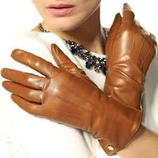 leather touch screen gloves for women