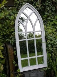 rustic arch gothic mirror indoor garden