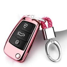 case keychain pink for audi q3 q7 a1 a3