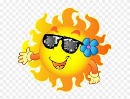 happy summer sun hd png