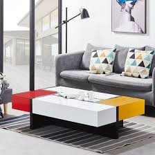 storm storage coffee table in yellow