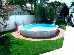 Backyard Above Ground Pool Ideas Intex Fencing Pools Decks Idea Home Elements And Style With Stone Back Yard Swimming Packages Large Small Crismatec Com