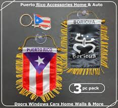 Amazon Com Puerto Rico Flag For Car Decal Sticker Puerto Rican Flag For Cars Pr Boricua Latino Assccories Small Hanging Window Mini Banner Automobile Rearview Mirror Home Decoration Design Style For Men