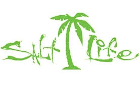 Salt Life Signature Palm Tree Car Window Decal Beach Sticker Uv Vinyl Green For Sale Online Ebay