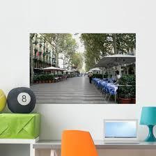 Rambla Street Morning Barcelona Wall Decal Wallmonkeys Com