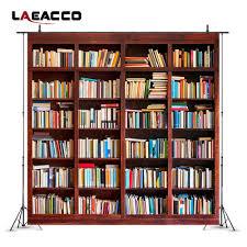 خلفيات Laeacco للتصوير الفوتوغرافي رف كتب لديكور غرفة الدراسة صور