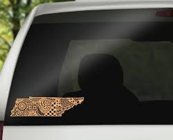 Tennessee Zentangle Car Decal Tennessee Car Decal Etsy