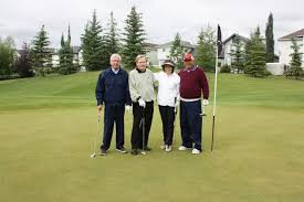 On the links at Country Hills Golf Club July 29 are Alvin Libin,  Extendicare Inc. board