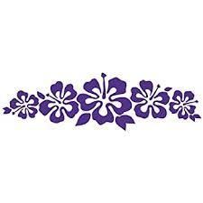 Amazon Com Hibiscus Band Vinyl Sticker Flower Decal Hawaii Purple Flower Lei Automotive