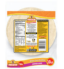 super size white corn tortillas