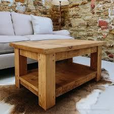 plank coffee table chunky coffee