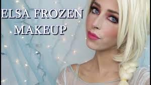 elsa frozen makeup tutorial halloween