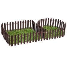 Miniature Wood Fence Diy Fairy Garden Bonsai Ornament Micro Dollhouse Plant Pot Decor Fencing White Coffee 100 5cm 100 3cm Fencing Trellis Gates Aliexpress