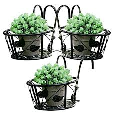 Tosnail Iron Art Hanging Baskets Flower Pot Holder Great For Patio Balcony Porch Or Fence Pack Of 3 Black Buy Products Online With Ubuy Thailand In Affordable Prices B074p236r4