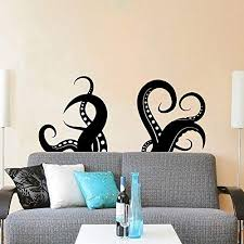 Amazon Com Kraken Wall Decal Vinyl Sticker Decals Kraken Octopus Tentacles Fish Deep Sea Scuba Ocean Animals Bathroom Home Decor Bedroom Dorm Zx110 Handmade