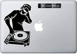 Amazon Com Dj Macbook Decal Mac Decal Macbook Pro Laptop Sticker Vinyl Decal Mac Apple Skin 13 15 17 Computers Accessories