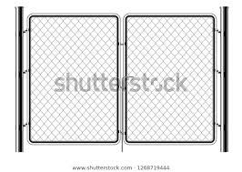 Realistic Metal Chain Link Fence Art Stock Vector Royalty Free 1268719444