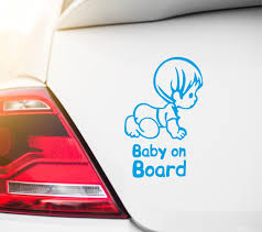 Baby On Board Car Sticker Decal Car Decals Baby On Board