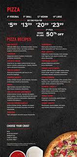 pizza hut menu print your