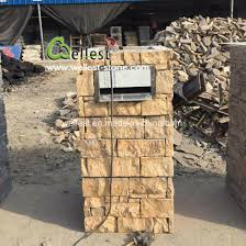 China Cement Slate Column Fence Stone Pillars Surrounds Slate Panels Stone Show Panel Cultured Stone Gates Post China Cement Column Cement Pillar
