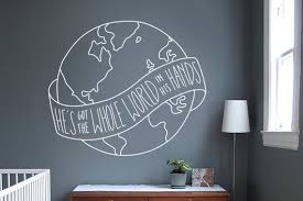 He S Got The Whole World In His Hands Wall Decal Church Etsy