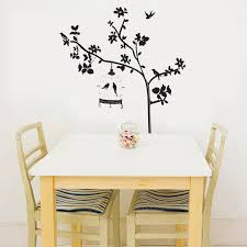 Black Tree Branches Birdcage Birds Wall Stickers Removable Living Room Sofa Background Wall Decals Diy Home Decor Wall Art Graphic Posters Sports Wall Stickers Star Stickers For Walls From Magicforwall 6 03 Dhgate Com
