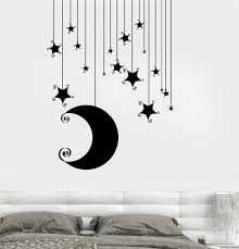 Moon Stars Vinyl Wall Stickers Removable Wall Decal Nusery Room Baby K Home Decor