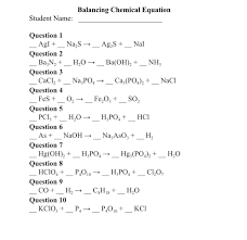 solved balancing chemical equation