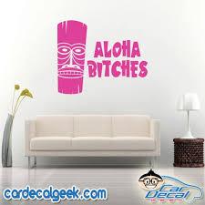 Aloha Bitches Hawaiian Tiki Car Window Decal Sticker Graphic