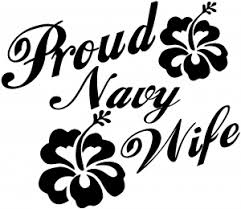 Proud Navy Wife Hibiscus Flowers Car Or Truck Window Decal Sticker Or Wall Art Decalsrock