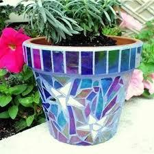 mosaic flower pot mosaic flower pots