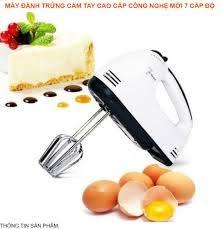 Máy đánh trứng cầm tay cao cấp công nghệ mới 7 cấp độ - Máy đánh trứng mini  Masidi đa năng, nhào bột, trộn bột, đánh kem, dùng pin tiện lợi (Màu