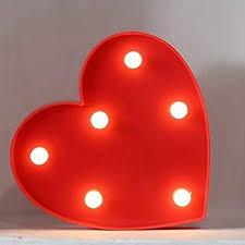 Japanamstore Led Night Light Heart Table Lamp Kids Room Decoration Lights Christmas Decor Red Heart Amazon Com