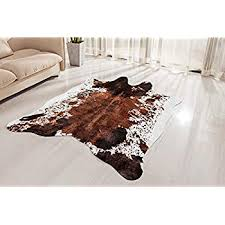 brown cowhide rug