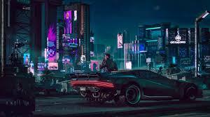 cyberpunk car 4k wallpaper