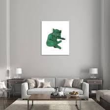 Green Cat C 1956 Giclee Print Andy Warhol Art Com