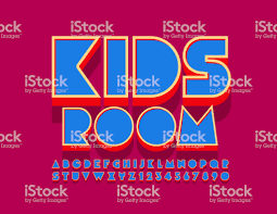 Vector Colorful Sign Kids Room With Creative Alphabet Letters And Numbers Stock Illustration Download Image Now Istock