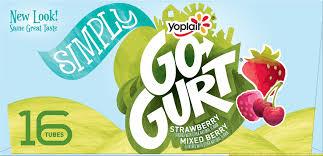 mixed berry low fat yogurt