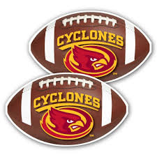 Iowa State University Window Decal Set Of 2 Football